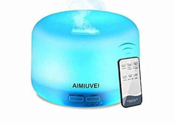 """""""Humidificador ultrasónico – aromaterapia con mando a distancia – AIMIUVEI –"""