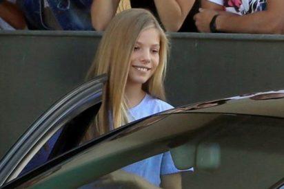 Segunda visita de la infanta Sofía a don Juan Carlos: sin su madre ni su hermana