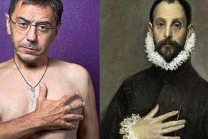 Las redes no tienen piedad con la pavorosa y aterradora pose de Monedero al desnudo en El Mundo: