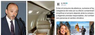 El País exige limpiar el armario y comprar prendas responsables para salvar el planeta mientras sus directivos contaminan viajando en jet privado