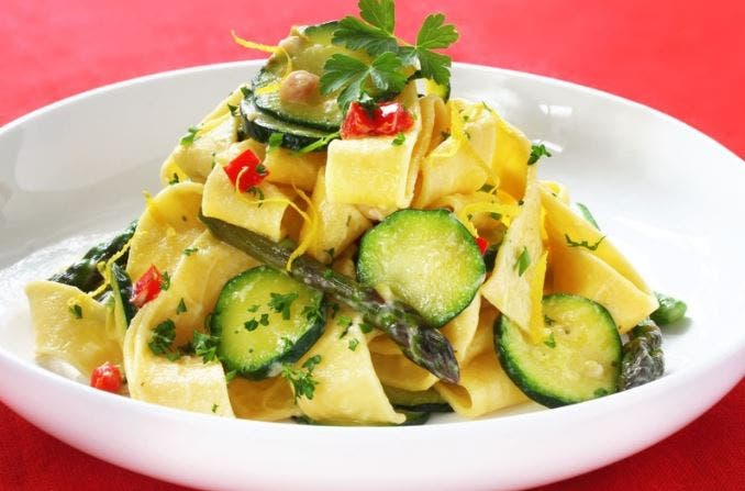 pappardelle con verduras