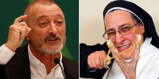 Pérez-Reverte lanza a miles de seguidores -con estudios- contra la 'monja diabólica' Caram y sus imbecilidades obscenas