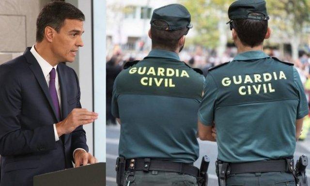 La brutal carta de la Guardia Civil: así es el trato vejatorio y asfixiante que reciben de Pedro Sánchez