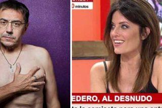 "Cristina Seguí se mofa del pavoroso torso desnudo de Monedero: ""Me recuerda a ET"""