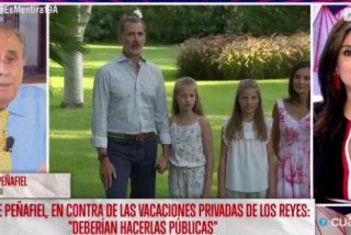 """Jaime Peñafiel embiste despiadadamente contra la Familia Real: """"Desaparecieron con nocturnidad y alevosía de Palma"""""""