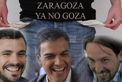 Tras 16 años de gobiernos municipales de Podemos-IU y PSOE , el Ayuntamiento de Zaragoza, esta en la quiebra absoluta, con deudas de más de mil millones de euros