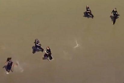Sospechoso de robo protagoniza una espectacular persecución a lo largo de una playa de Los Ángeles