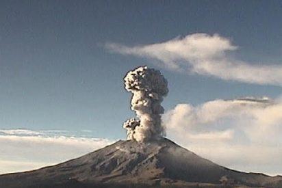 El volcán mejicano Popocatépetl registra 6 explosiones en apenas un día
