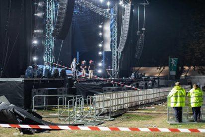 Una enorme pantalla LED de un concierto cae en Alemania causando 28 heridos