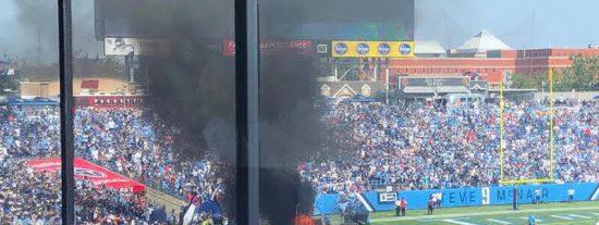Un estadio de Tennessee está a punto de arder en llamas en el previo de un partido de la NFL