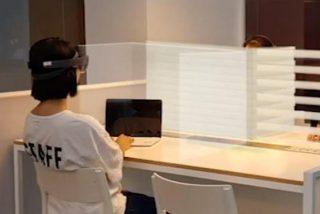 Desarrolladores tecnológicos proponen separar los cubículos de las oficinas utilizando cascos de realidad aumentada