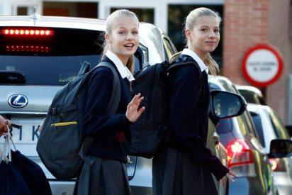 Leonor y Sofía vuelven al cole con una mochila muy peculiar y patriótica