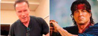 "Arnold Schwarzenegger recuerda a Sylvester Stallone que su machete ""es más grande"""