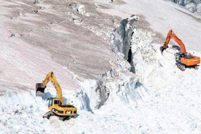 Así destruyen un glaciar para ampliar una pista de esquí en Austria