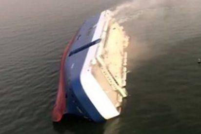 Así fue la operación de rescate de los últimos tripulantes del buque Golden Ray: con 4.000 vehículos que volcó frente a la costa este de EE.UU.