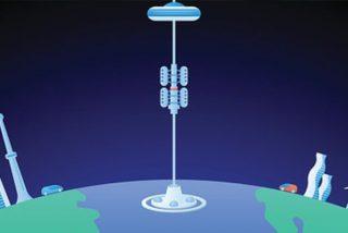 """Así funcionaría el """"ascensor a la Luna"""" propuesto por investigadores de las universidades de Cambridge y Columbia"""
