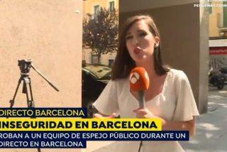 'Barcelona Ciudad sin Ley': Roban a un equipo de 'Espejo público' antes de entrar en directo