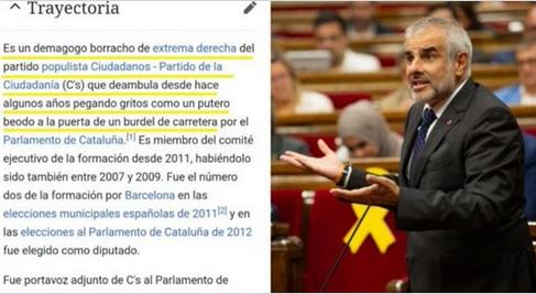 """El burdo ataque contra Carrizosa (Ciudadanos) en la Wikipedia: """"Putero beodo a la puerta de un burdel de carretera"""""""