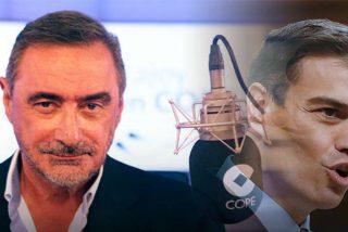 """Carlos Herrera destroza a Sánchez por repudiar ahora a Podemos: """"Caradura, pero si tú le ofreciste tres ministerios y una vicepresidencia"""""""