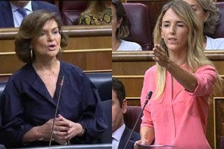 Tremendo zasca de Cayetana Álvarez de Toledo a la vicepresidenta Carmen Calvo