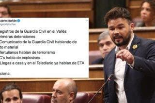 Rufián sale en defensa de los violentos CDR y se lleva la paliza del año: