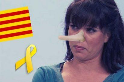 ¡El ridículo en persona! La musa del lazo amarillo saca las uñas por sus amigos los 'indepes' y se la zampan a base de zascas