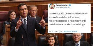 Sánchez se zampa un carro de 'autozascas' después de que salgan a relucir unos mensajes del socialista