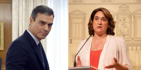 'Nada' Colau se pone como una mona cabreada con Sánchez y sale al rescate de sus amigos podemitas