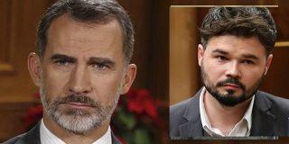 """Gabriel Rufián: """"Tengo la sospecha de que el Rey Felipe VI es votante y militante de VOX"""""""