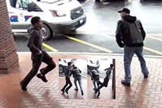 Ladrones: el abuelo del bastón intercepta con una zancadilla al atracador de la pistola