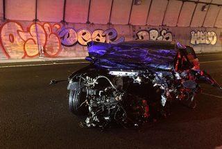 Un conductor 'kamikaze' mata a un ciudadano de 35 años en un brutal choque frontal en la M-50