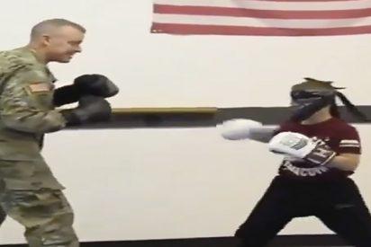 Vídeo Viral: Amor a ciegas entre un padre soldado y su hijo 'boxeador'