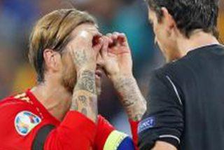El sacan tarjeta amarilla a Sergio Ramos por hacer este gesto en la celebración de su gol