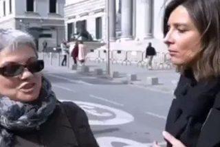 """El vídeo viral de la señora que da una lección de libertad de pensamiento a una atónita Sandra Barneda: """"Soy feminista y voto a Vox""""."""