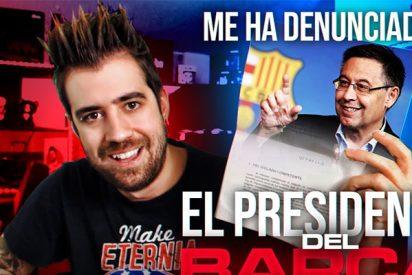 El 'youtuber' AuronPlay termina denunciado por el presidente del Barcelona