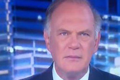 Esta cara se le quedó a Piqueras tras lo que le ha ocurrido en pleno directo de Informativos Telecinco