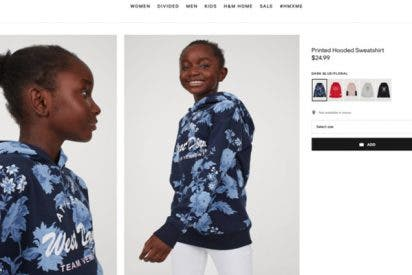 "Esta foto ""natural"" de una niña negra despeinada vuelve a colocar a H&M en el centro de la polémica"