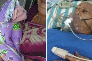 Esta mujer de 73 años da a luz a gemelas en la India