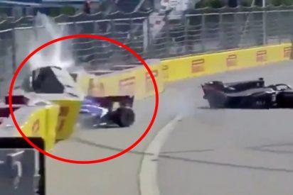 Este choque en la Fórmula 2 obliga a parar la carrera y manda a dos pilotos al hospital