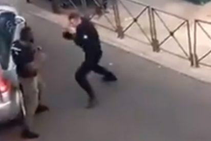 El policía francés se lía a puñetazo limpio con el sospechoso que planta cara y acaba 'electrificado'