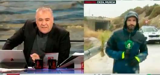 El 112 de Emergencias Murcia abronca a García Ferreras por la inconsciencia de uno de sus reporteros