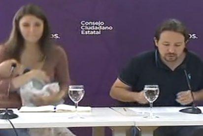 Las sufridas madres de Podemos: El 'Canal 24 Horas' pilla in fraganti a Irene Montero y a Pablo Iglesias