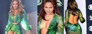 Jennifer López se calza el icónico vestido de Versace 20 años después