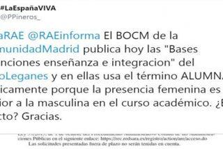 La RAE da una lección de lenguaje al Ayuntamiento de Leganés: es «alumnos» y no «alumnas»