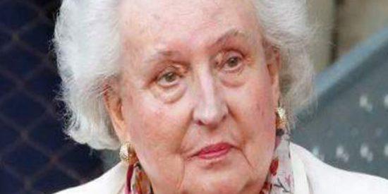 La infanta Pilar, enferma de cáncer de colon, ingresa en un hospital de Mallorca