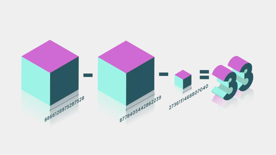 Matemáticas: 65 años después, encuentran la solución al enigma de la suma de 3 cubos