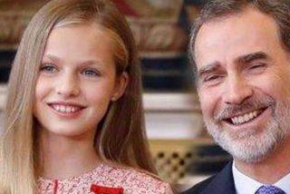 Leonor y su padre Felipe VI fueron este viernes juntos a ver la última película de Brad Pitt