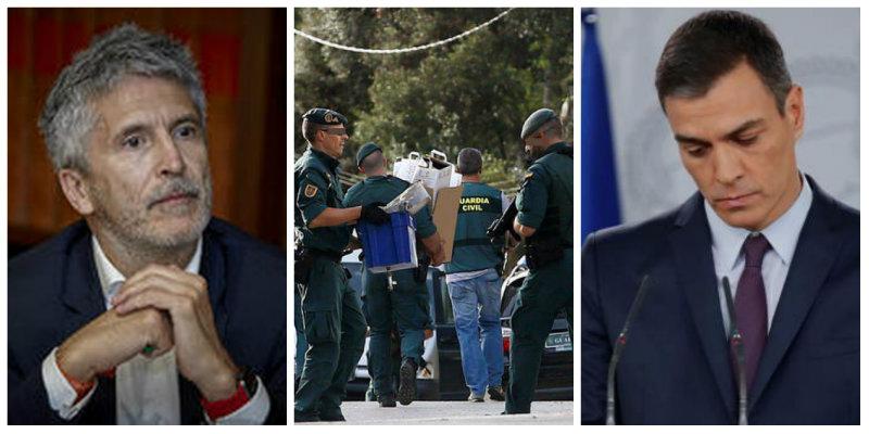 El 'premio' que se lleva la Guardia Civil por detener a los violentos CDR: Sánchez y Marlaska piden cuentas a los mandos de la Benemérita