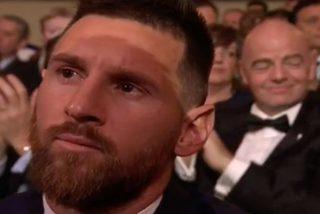 La cara de Messi al ver que no había ganado el premio al mejor gol se hace viral