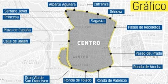 Por fin levantan el veto para entrar a Madrid Central a los vehículos con etiqueta C y al menos dos ocupantes
